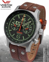 VOSTOK EUROPE EXPEDITION NORTH POLE 1 TITANIUM 6S21-595H299